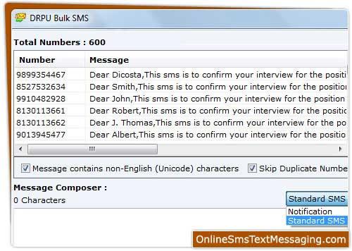 GSM Text Messaging Software